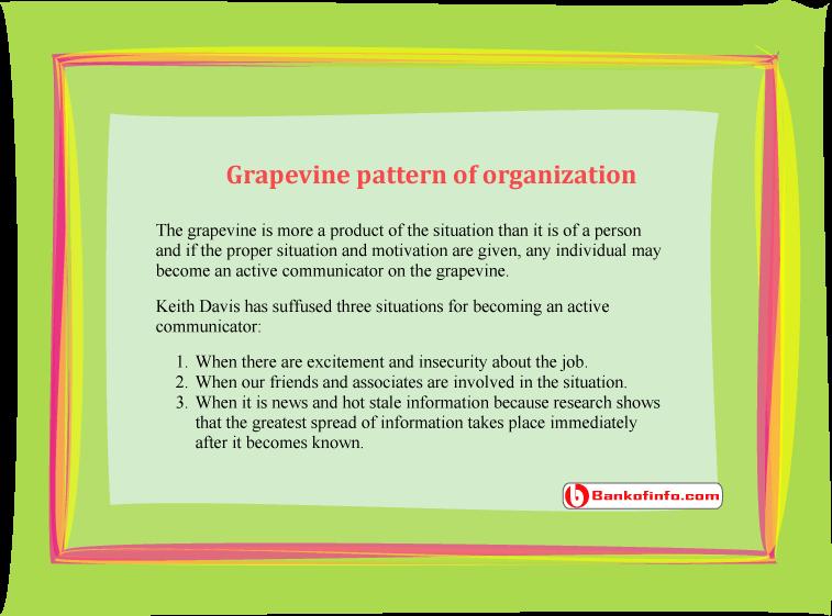 Grapevine pattern of organization