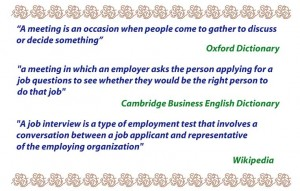 Definition of interview