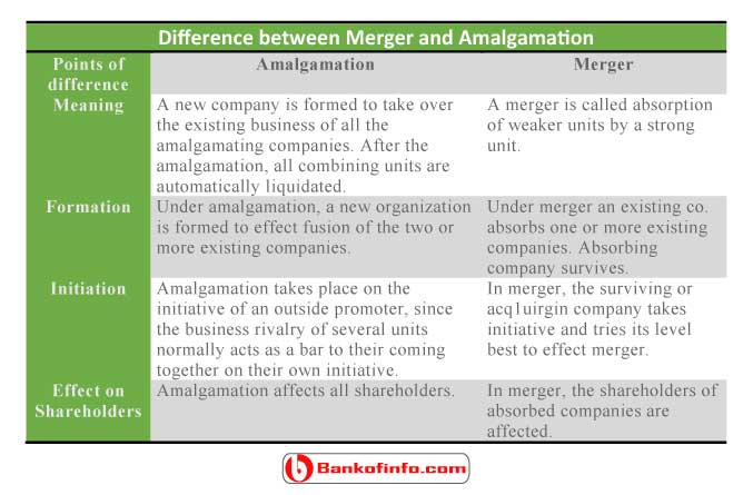 Difference between merger and amalgamation