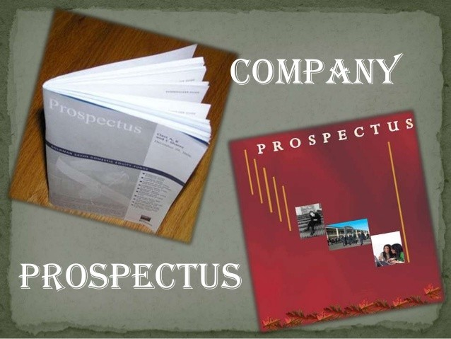 Meaning of Prospectus