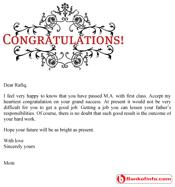 Congratulation letter sample format template example congratulationlettersampl congratulation letter sample spiritdancerdesigns Image collections