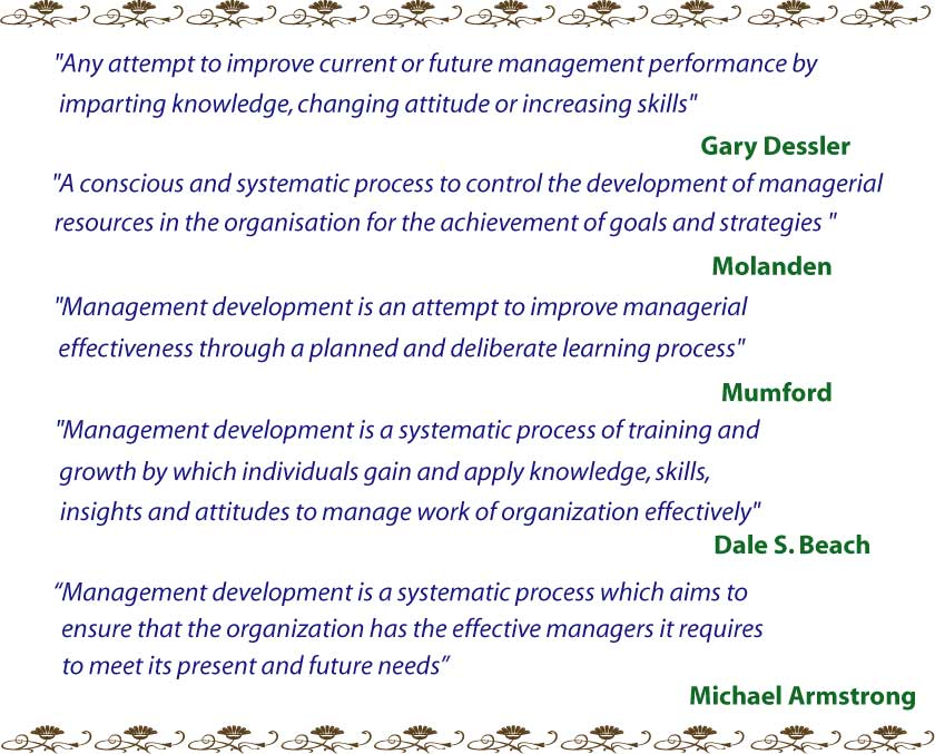 Definition of Management Development