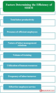 Factors determining the efficiency of SHRM