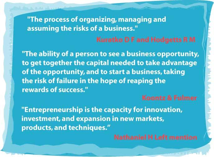 entrepreneurship_definition_by_various_author