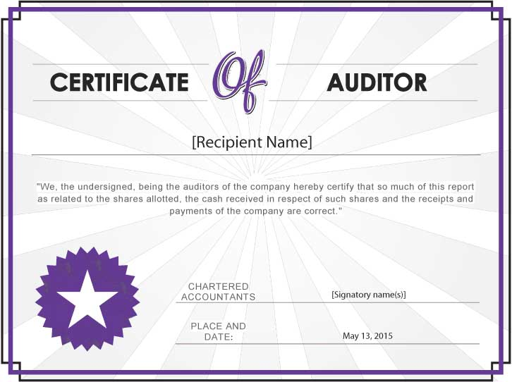 what_is_auditor's_certificate_with_sample