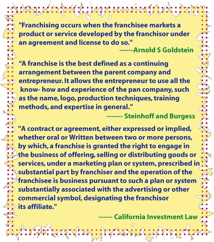definition_of_franchise_by_various_author